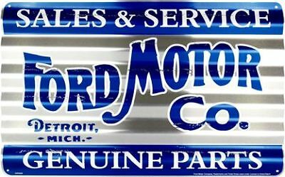 Ford Genuine Parts Sales & Service Aluminum Sign Garage Art Man Cave