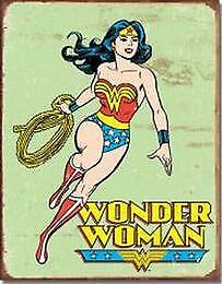 Wonder Woman Metal Tin Sign Garage Art Man Cave Wall