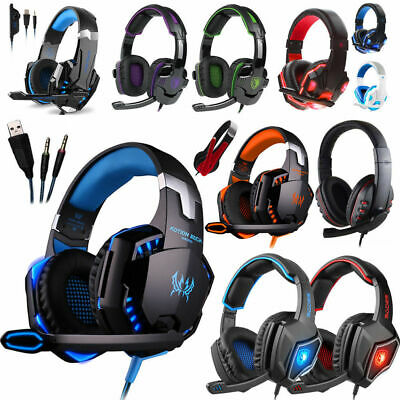 For PS3 PS4 Xbox ONE 360 PC 3.5mm Gaming Headset Mic Headphones Stereo Surround