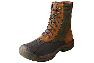Twisted X MGLW001 Outdoor Boots Men Guide Waterproof 11 EE Brown Camo Lace-up