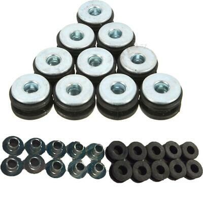 10pcs Rubber Grommets Bolt for Motorcycle Fairings Yamaha Honda Kawasaki WST