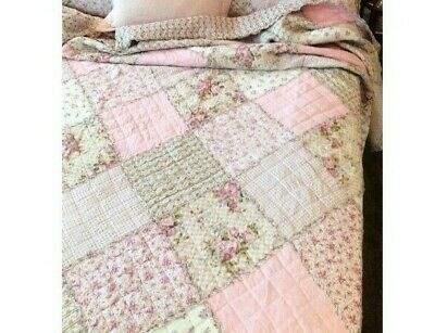 Tara Girls Cot Nursery Throw Quilt Blanket Shabby Chic Pink