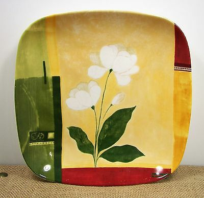 "222 Fifth Kyoto Square Salad Plate 8 5/8"" Porcelain Floral & Geometric 16540 #2"