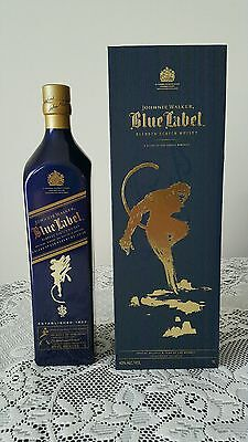 Johnnie Walker Scotch Whisky Blue Label 2016 Zodiac BLUE Monkey. 1L. Duty Free.