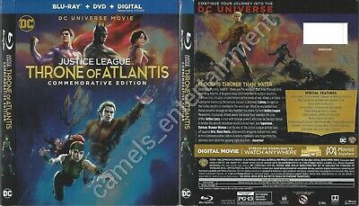 Justice League: Throne of Atlantis (SLIPCOVER ONLY for Blu-ray)