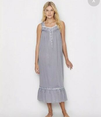 80e7c1cef8 SMALL S EILEEN WEST NIGHTGOWN Sleeveless Woven Cotton Long Ballet 49 ...