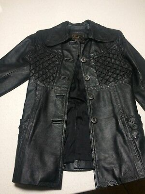 RADMAN - Ladies Vintage Leather Jacket Size 10 - Black
