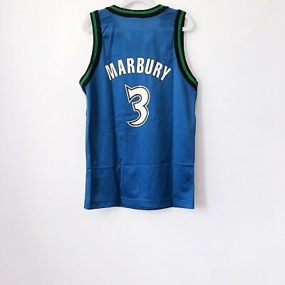 c3b395ec9 vintage stephon marbury minnesota timberwolves champion jersey youth size  medium