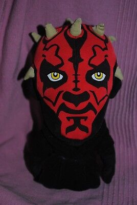 Peluche Doudou Darth Maul Noir Rouge STAR WARS  20cm TBE