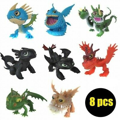 8Pcs Dragon Chaser How to Train Your Dragon Night Fury Action Figures Kids Toys