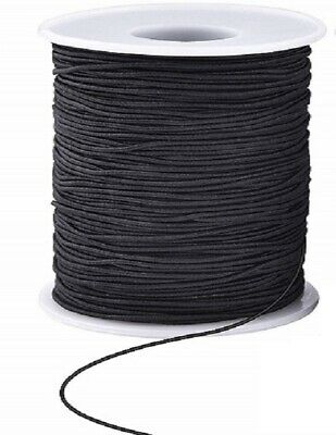 Elastic Cord - 3Mm - Black - 1 Metre - New
