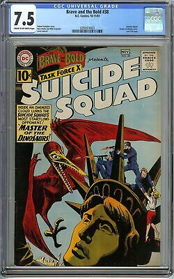 Brave and the Bold #38 CGC 7.5 SUICIDE SQUAD vs MASTER OF THE DINOSAURS DC Comic