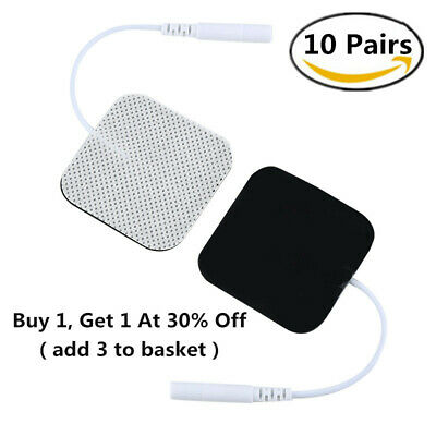 10 Pairs 4x4cm Reusable Tens Machine Replacement Electrode Pads Self-Adhesive