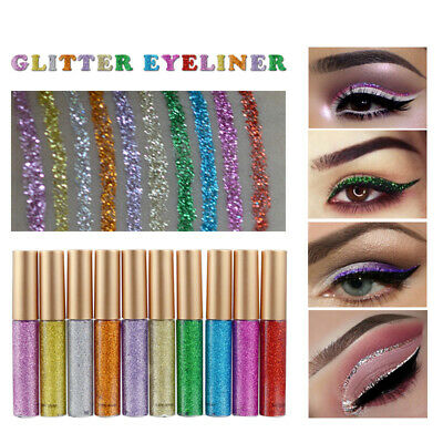 HANDAIYAN Metallic Shiny Smoky Eyeshadow Waterproof Glitter Liquid Eyeliner TUS