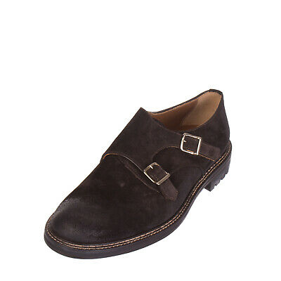 THE STORE Leather Shoes Size 42 UK 8 Monk Strap Treated Made in Italy