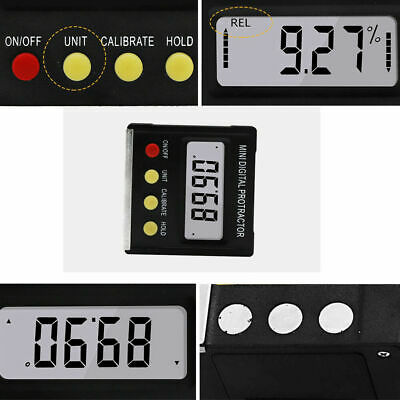 Cube Inclinometer Angle Gauge Meter Digital Protractor Electronic Level Box FRA