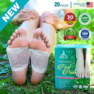 Aromatherapy Body Cleanse Foot Pads Stress Pain Constipation Relief