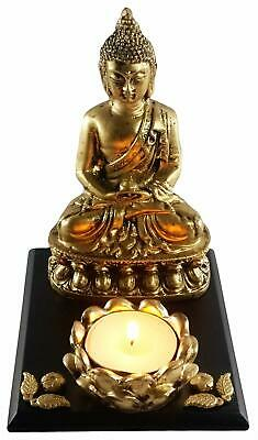 Golden Antique Finish Buddha Statue Home Decor Showpiece Idol