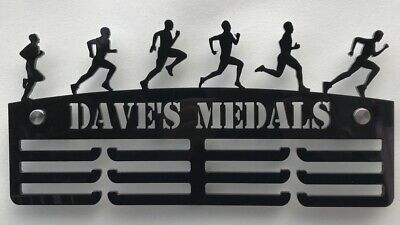 Thick 5mm Acrylic Personalised Male runner 3tier Medal Hanger / holder