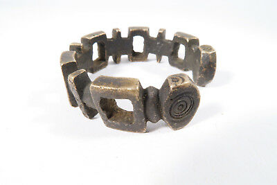 Alter kleiner Reif Weißmetall AD71 Fulani Old small Bracelet Afrozip
