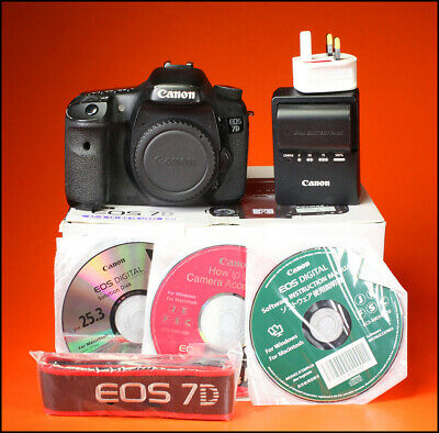 Canon EOS 7D Digital SLR Camera, Sold With Battery Charger, Software,Strap & Box