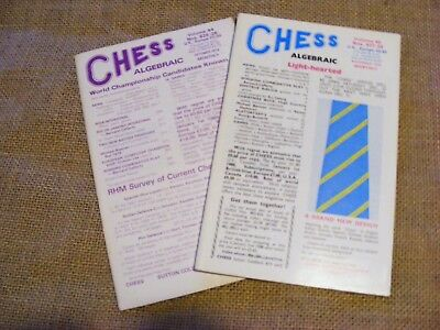 "2 copies of ""Chess"" Magazine from 1979. Sutton Coldfield. Ed B H Wood. VGC"