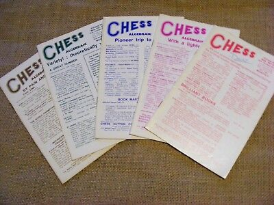 "5 copies of ""Chess"" Magazine from 1981. Sutton Coldfield. Ed B H Wood. VGC"