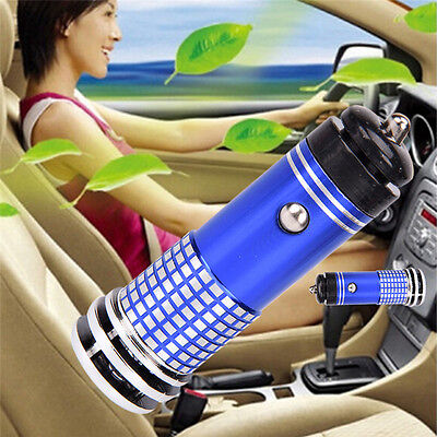 Mini Auto Fresh Air Ionic Purifier Oxygen Bar Ozone Ionizer Cleaner of Car#UWUK