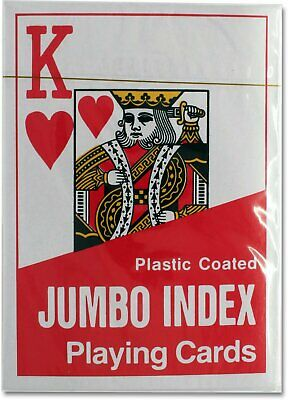 Jumbo Index Playing Cards with Large Numbers for the Weak or Partially Sighte...