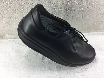 48c3dd4bf05b MBT Black Leather Rocker Oxfords Shoes Toning 400082-03 Womens Size 8 1 2