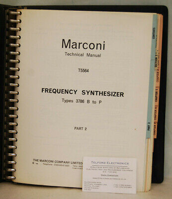 Marconi T5564 Frequency Synthesizer Types 3786 B to P Technical Manual