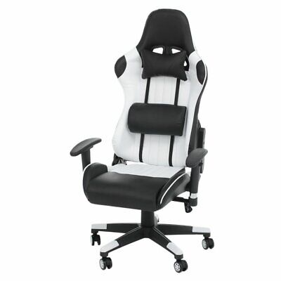 CA New Gaming Chair Adjustable Fx Leather Racing Office Executive Recliner UK UK