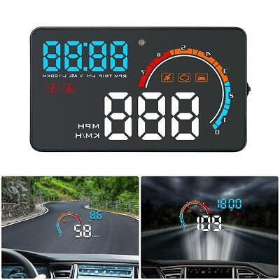 D2500 Universal Auto HUD OBD2+GPS Head Up Display Overspeed Warning Projector