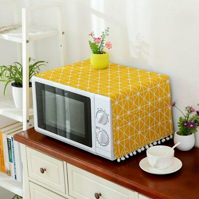 Microwave Dust Proof Cover Microwave Oven Hood Home Decor Microwave Towel~&4
