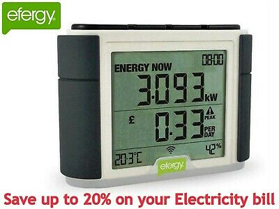 Efergy Elite Smart Wireless Home Electricity Electric Energy Monitor Power Meter