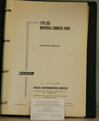 Racal Type 835 Universal Counter-Timer Technical Manual