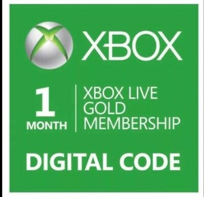 1 Month Xbox Live Gold Membership Code SENT BY EMAIL  IN 1 HOUR! *Fast Shipping*