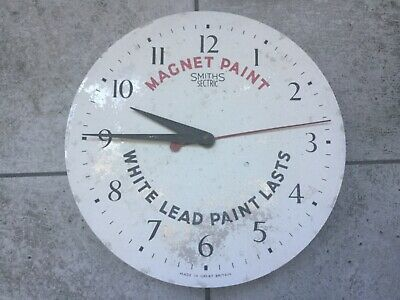 Vintage wall clock rare advertising clock Magnet Paint Smiths Sectric