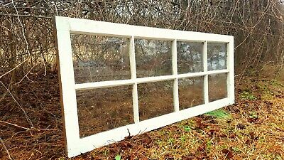 Architectural Salvage ~ 8 PANE 23 X 59 WAVY GLASS WINDOW PANE FRAME FRENCH DOOR