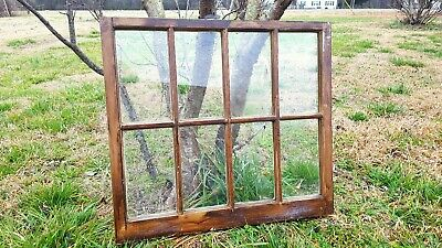 Architectural Salvage ~ ANTIQUE WINDOW FRAME PANES 8 PANE SMALL 28 X 31