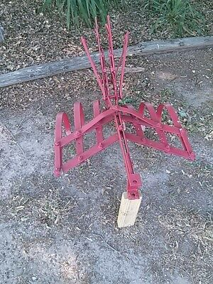 vintage antique horse drawn walk behind 5 arm cultivator farm plow