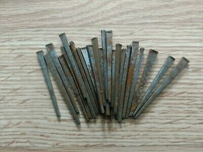 "Vintage 25 Square Cut  2""- 2 1/2"" Inch Straight Nails w/Square Heads"