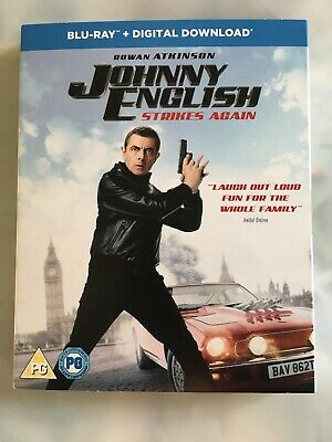 Johnny English Strikes Again with Digital Download Blu-ray NEW