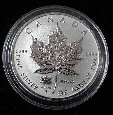 2017 Canada Maple Leaf 1 Oz Silver Coin 150 Years