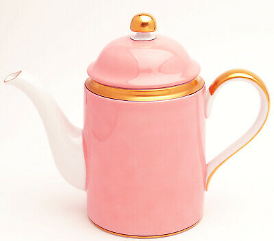 """Renaissance Peach by Fitz and Floyd china Coffee Pot with Lid 8"""""""