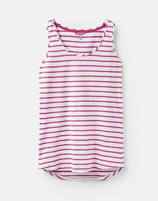 Joules 204537 Basic Vest in BRIGHT WHITE AND PINK STRIPE