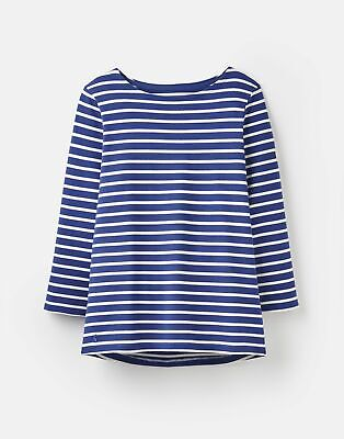 Joules Womens 204218 Jersey Striped Top in JET BLUE
