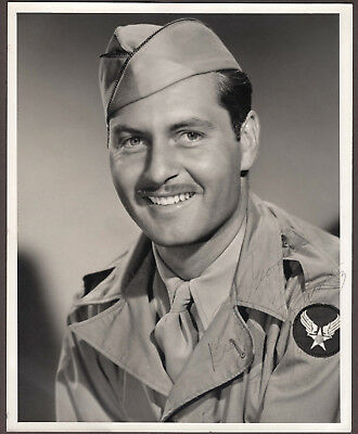 George Montgomery Signed Autographed B&W Headshot / Photo - Melchior Collection