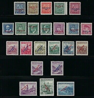 Slovakia WWII 1939 Provisional Overprint Complete Set Most Expertized VF MNH!