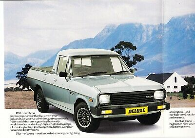 Nissan Bakkie SOUTH AFRICA 8 page Prospek t/ catalog / brochure ** VERY RARE **